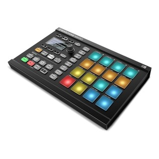 Native Instruments Maschine Mikro MK2 with Komplete 11, Black - Maschine Angled