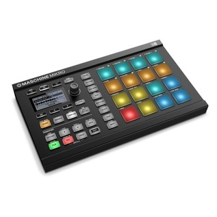Native Instruments Maschine Mikro MK2 with Komplete 11, Black - Angled 2
