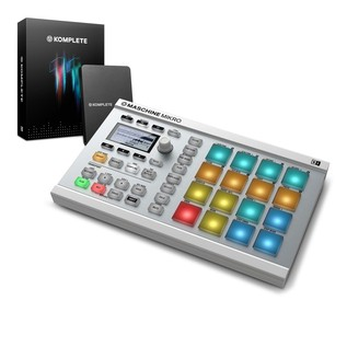 Native Instruments Maschine Mikro MK2 with Komplete 11, White - Bundle