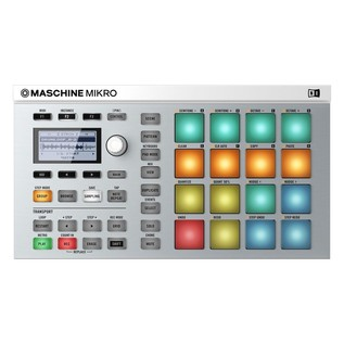 Native Instruments Maschine Mikro MK2 with Komplete 11, White - Top