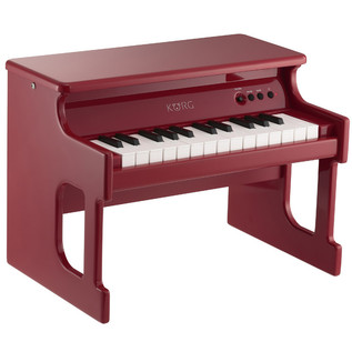 Korg TinyPiano 25 Mini Key Digital Toy Piano, Gloss Red