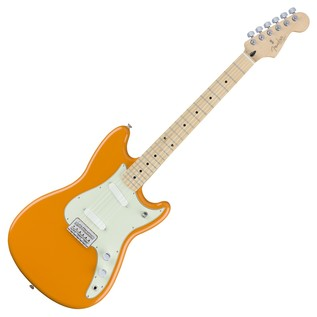 Fender Duo-Sonic Electric Guitar, MN, Capri Orange