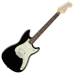 Fender Duo-Sonic HS Electric Guitar, RW, Black