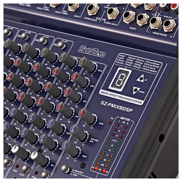 SubZero 200W Powered DSP Mixer by Gear4music