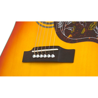 Epiphone Hummingbird Pro Electro Acoustic Guitar Bridge
