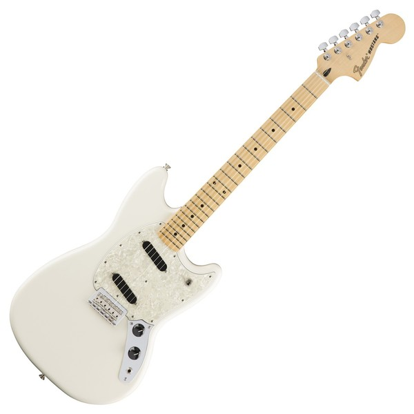 Fender Mustang Electric Guitar, MN, Olympic White