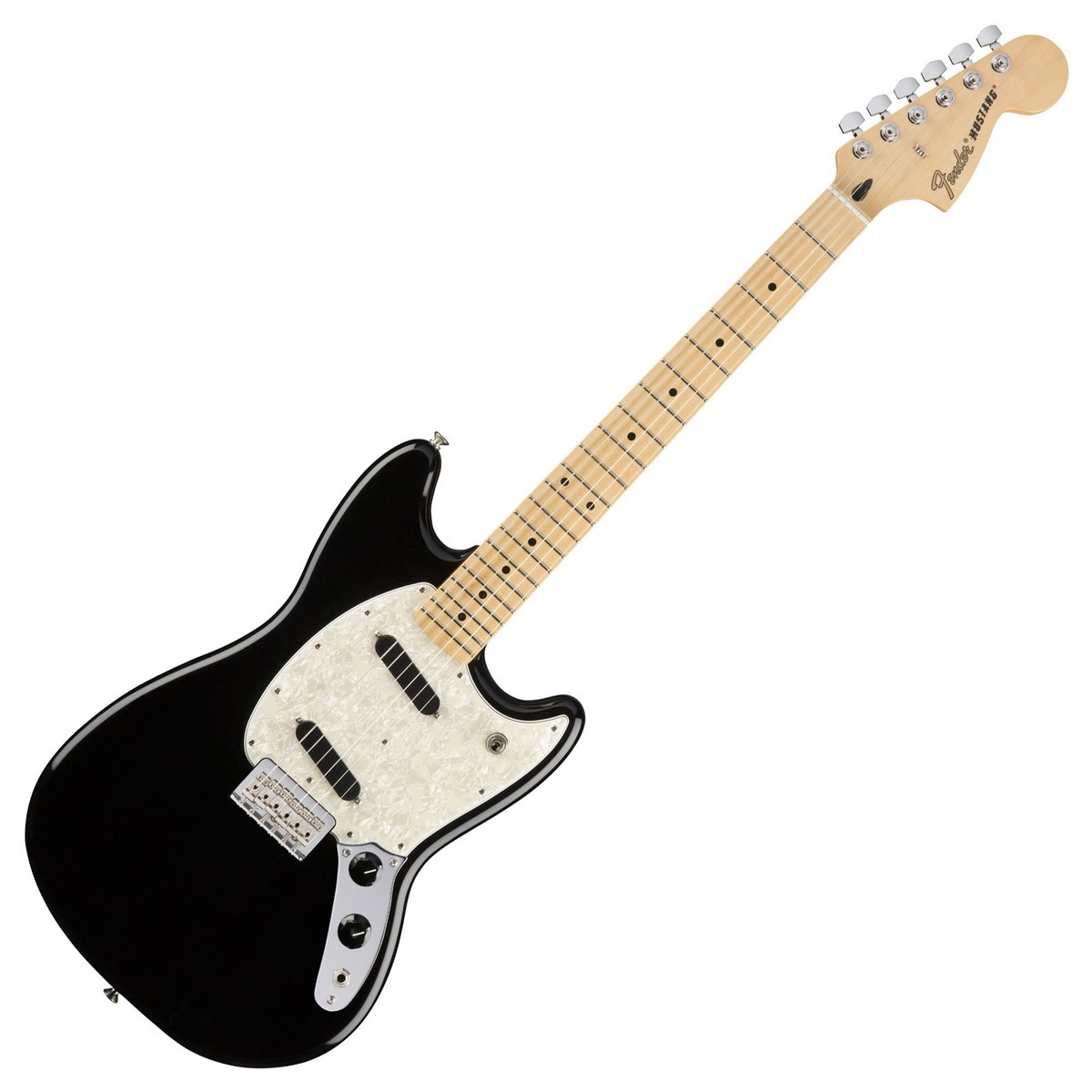 fender mustang mn black at gear4music. Black Bedroom Furniture Sets. Home Design Ideas