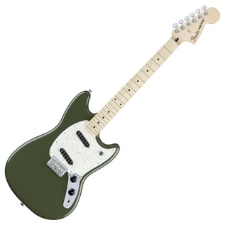 Fender Mustang Electric Guitar, MN, Olive