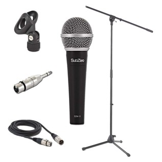 SubZero Dynamic Vocal Microphone with Cable and Mic Stand