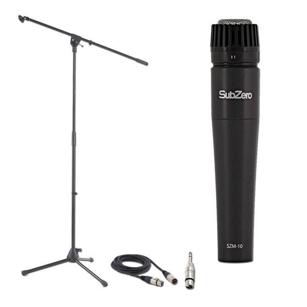 Sub-Zero Dynamic Instrument Mic with Cable and Mic Stand