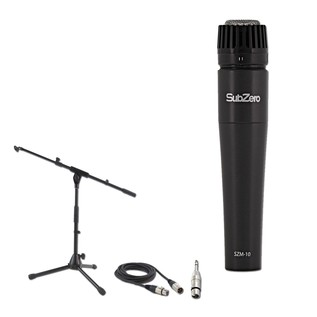 SubZero Dynamic Instrument Mic with Cable and Low Mic Stand