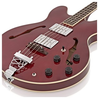SubZero Detroit Semi Acoustic Bass, Red Wine