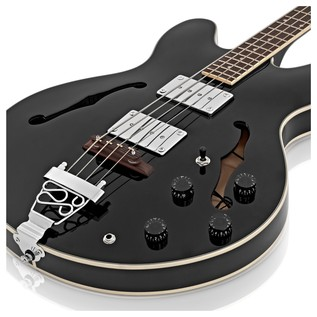 SubZero Detroit Semi Acoustic Bass, Black