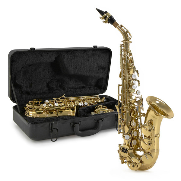 Curved Soprano Saxophone by Gear4music