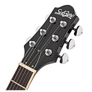 SubZero Detroit Semi Acoustic Guitar, Black