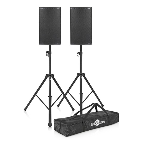 dB Technologies Opera 15 Active PA Speaker Bundle with Free Stands