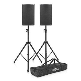 dB Technologies Opera 10 Active PA Speaker Bundle with Free Stands