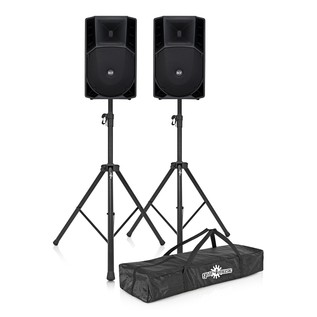 RCF ART 732-A Active Speaker Bundle with Free Stands