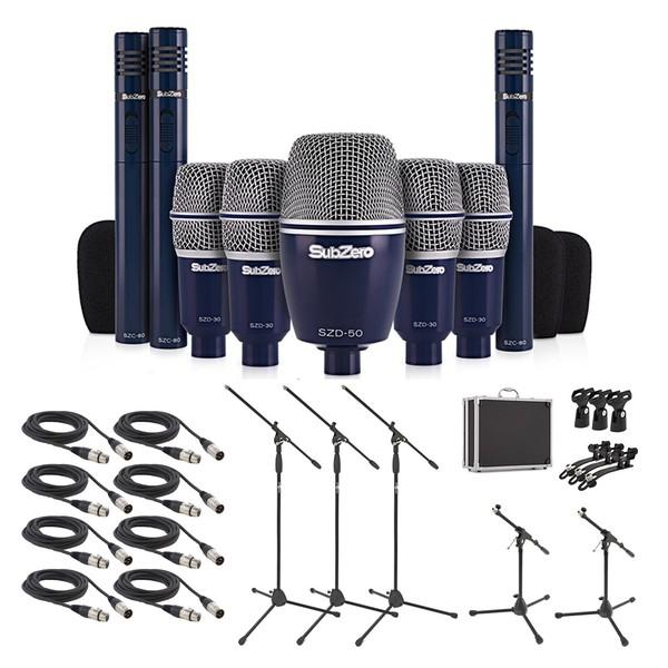 SubZero SZD-8000 Drum Mic Complete Pack, 8 Piece