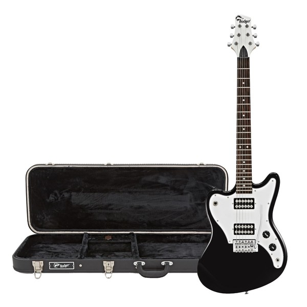 Badger Electric Guitar and Case, Black