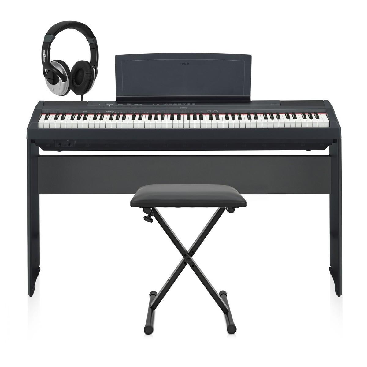 Yamaha p115 digital piano black with matching stand at for Yamaha p115 stand