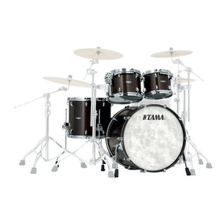 Tama Star Walnut 22'' 4 Piece Shell Pack, Satin Black Walnut
