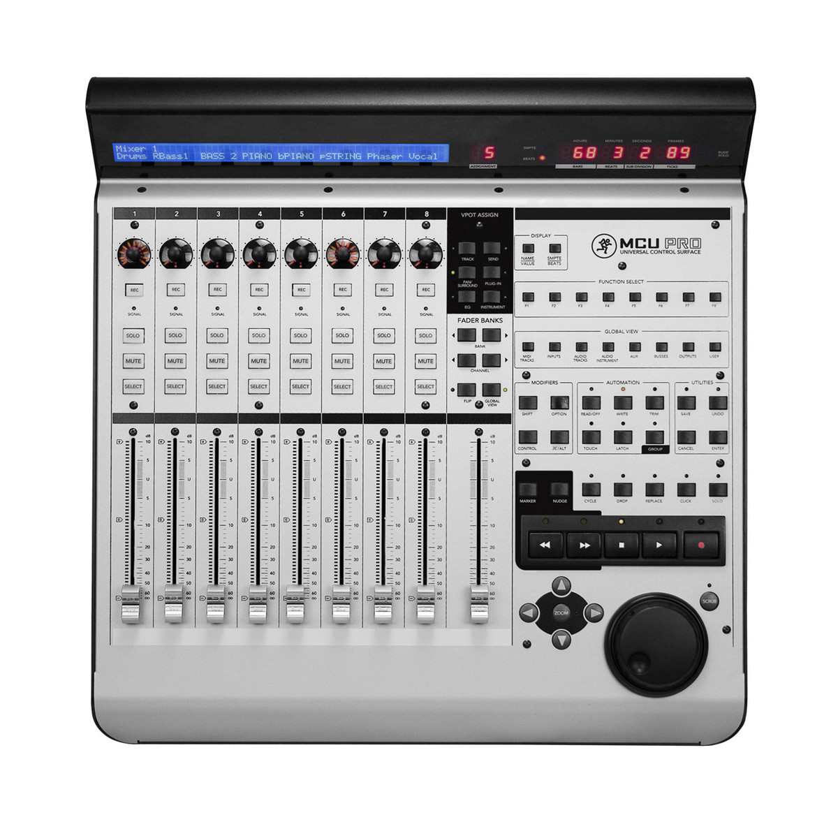 Mackie Mcu Pro 8 Channel Control Surface With Usb Box