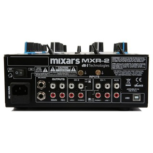 Mixars MXR2 2 Channel DJ Mixer - Rear
