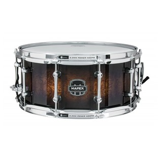 Mapex The Exterminator 14 x 6.5in Snare Drum, Rosewood Burl