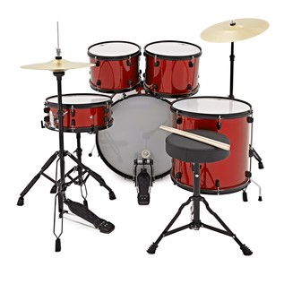 BDK-1 Drum Kit by Gear4music, Red
