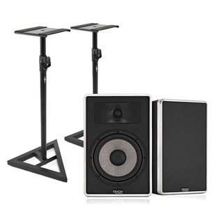Denon DN-308S Studio Monitors with Free Stands, Pair