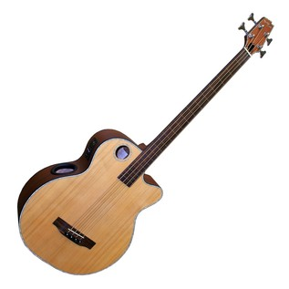 Boulder Creek EBR3 Fretless Electro Acoustic Bass, Natural