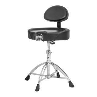 Mapex T775 Drum Stool, Saddle Top with Backrest, Four Leg Base