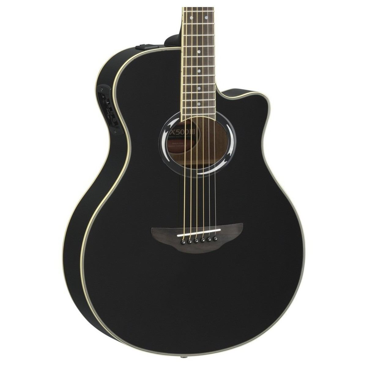 Disc Yamaha Apx500 Iii Electro Acoustic Guitar Black At Gear4music