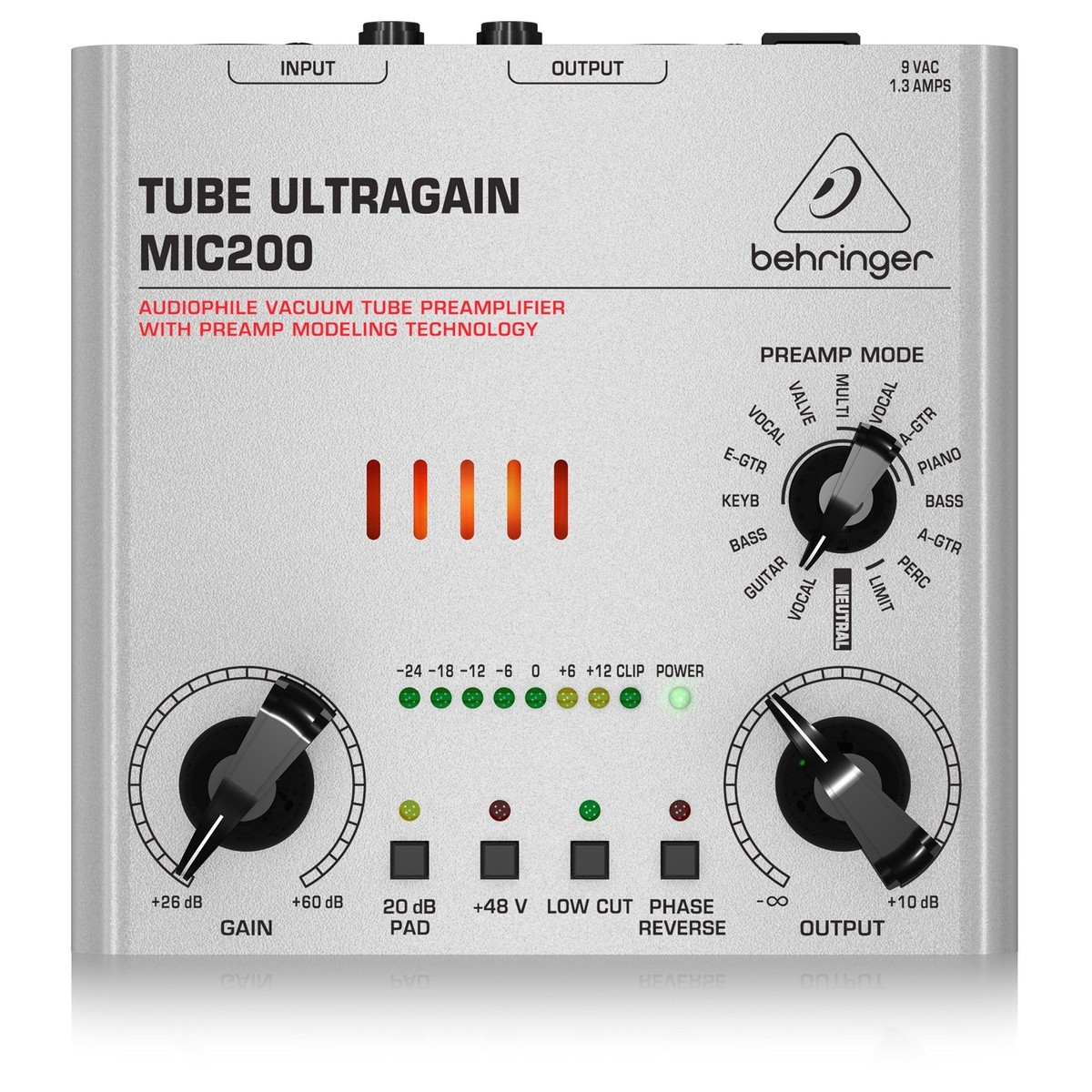 Behringer MIC200 Tube Ultragain Mikrofon Preamp | Gear4music