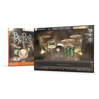 Toontrack EZX - Big Rock Drums - Screenshot & Box