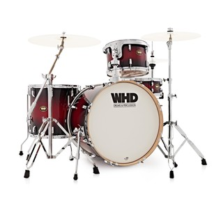 WHD Birch 4 Piece Rock Drum Kit, Red Burst