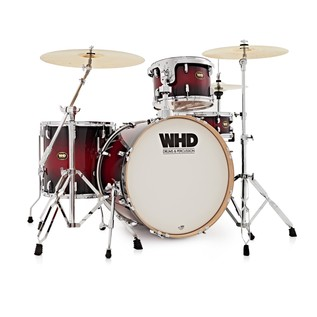 WHD Birch 4 Piece Rock Complete Drum Kit, Red Burst