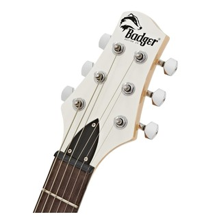 Classic Badger Guitar and Case, White