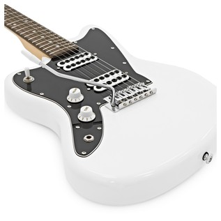 Badger Classic Left Handed Electric Guitar and Case, White