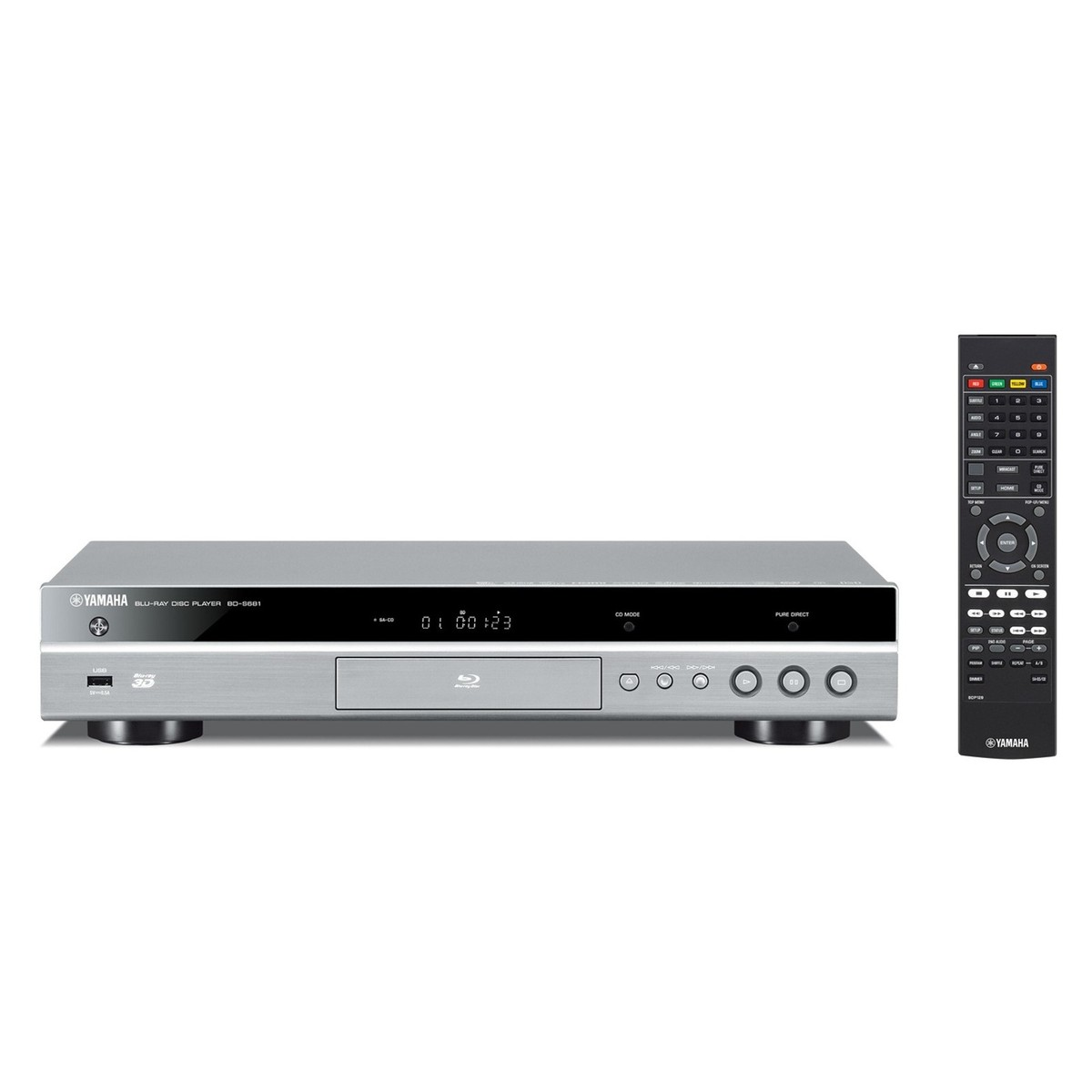 yamaha bds681tib blu ray player titanium at. Black Bedroom Furniture Sets. Home Design Ideas