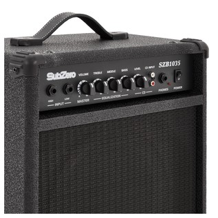 SubZero Atlanta Bass Guitar + SubZero 35W Bass Amp, Satin Black