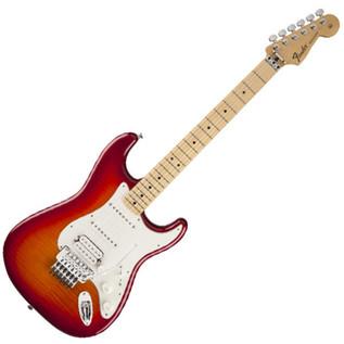 Fender Standard Stratocaster PlusTop HSS Locking Trem, Aged Cherry