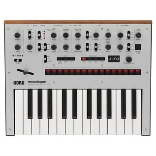 Korg Monologue Analogue Synthesizer, Silver - Top