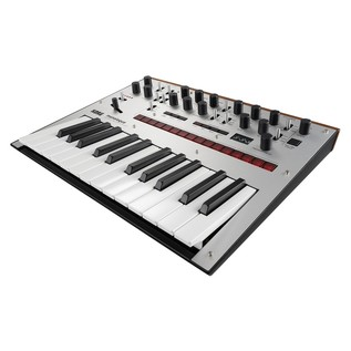 Korg Monologue Analogue Synthesizer, Silver - Angled