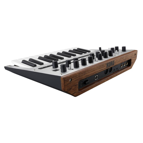 Korg Monologue Analogue Synthesizer, Silver - Angled Rear