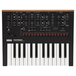Korg Monologue Analogue Synthesizer, Black - Top