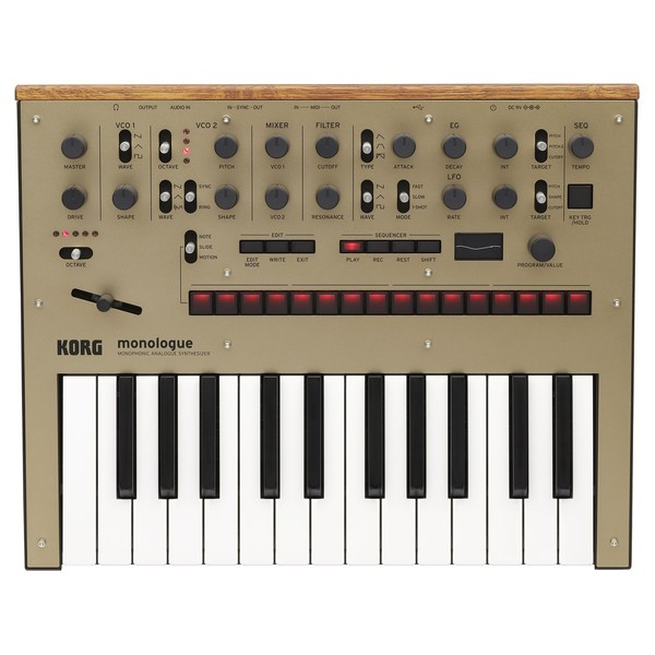 Korg Monologue Analogue Synthesizer, Gold - Top