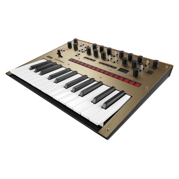 Korg Monologue Analogue Synthesizer, Gold - Angled