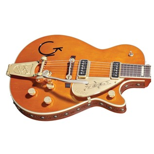 Gretsch G6121-1955 Chet Atkins with Bigsby + Leather Trim, Tangerine
